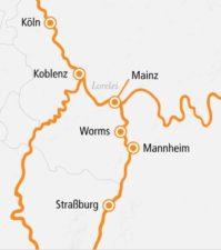 A-Rosa Brava Rhein Kurz-Kreuzfahrt Romantik