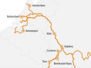 A-Rosa Flora Rhein Kurs Nord und Mosel
